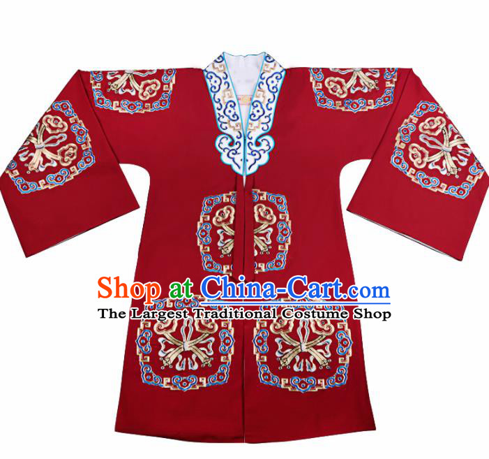 Professional Chinese Traditional Beijing Opera Young Lady Costume Red Cloak for Adults