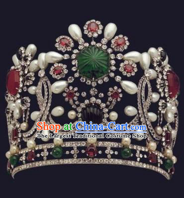 Traditional Egyptian Queen Hair Accessories Ancient Egypt Pearls Royal Crown for Women
