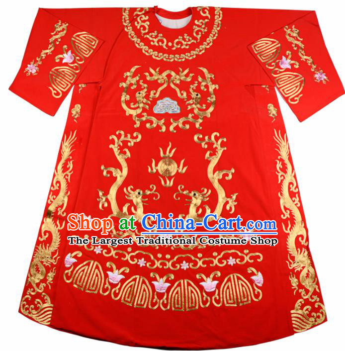 Professional Chinese Beijing Opera Costume Traditional Ancient Bridegroom Red Clothing for Adults