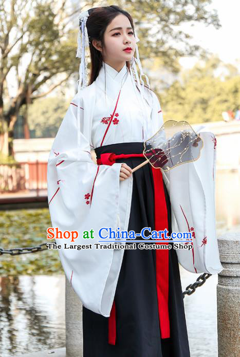 Chinese Ancient Traditional Jin Dynasty Nobility Lady Replica Costume for Women