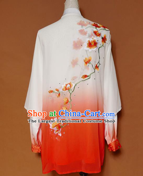 Top Group Kung Fu Costume Tai Ji Training Embroidered Magnolia Uniform Clothing for Women