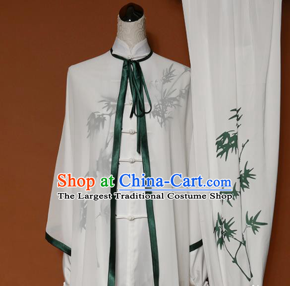 Top Grade Kung Fu Costume Martial Arts Training Tai Ji Printing Bamboo Uniform for Adults