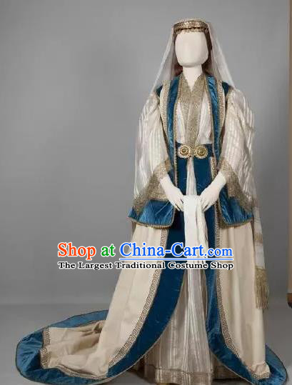 Traditional Greek Court Costume Ancient Greece Queen Wedding Dress for Women