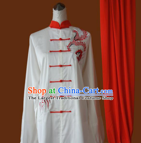 Top Grade Kung Fu Embroidered Costume Chinese Martial Arts Training Tai Ji Uniform for Adults