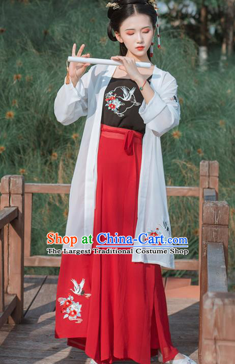 Chinese Ancient Traditional Hanfu Dress Song Dynasty Young Lady Historical Costume for Women