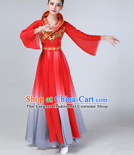 Chinese Traditional Stage Performance Dance Costume Classical Dance Red Dress for Women