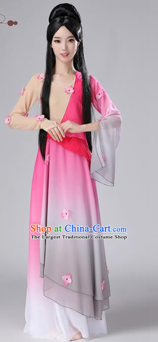 Chinese Traditional Stage Performance Dance Costume Classical Dance Pink Dress for Women