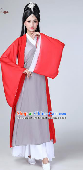 Chinese Traditional Stage Performance Dance Costume Classical Dance Grey Dress for Women
