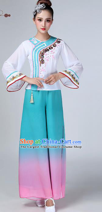 Chinese Traditional Stage Performance Yangko Dance Costume Folk Dance Clothing for Women