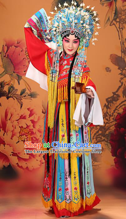 Professional Chinese Traditional Beijing Opera Actress Costume Ancient Imperial Concubine Embroidered Dress for Adults