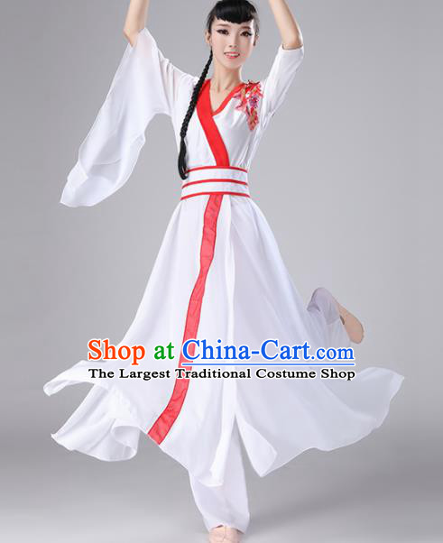 Chinese Traditional Classical Dance Dress Stage Performance Umbrella Dance Costume for Women