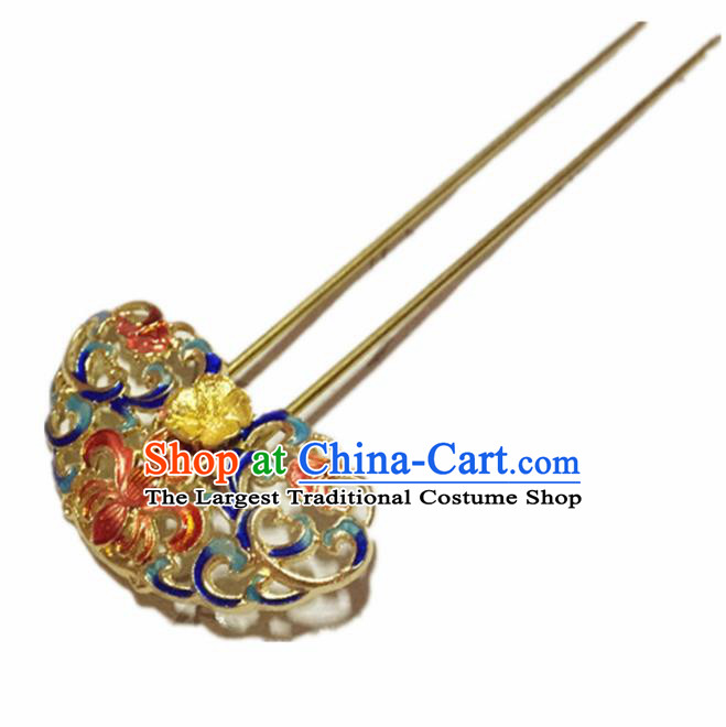 Chinese Ancient Handmade Blueing Hairpins Traditional Classical Hair Accessories for Women