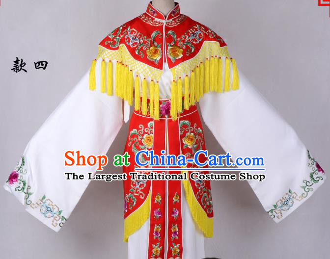 Professional Chinese Traditional Beijing Opera Costume Peri Red Embroidered Dress for Adults