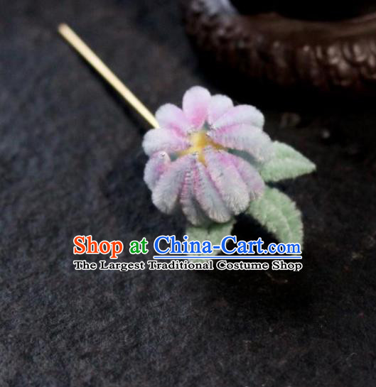Chinese Ancient Palace Queen Velvet Flower Hairpins Traditional Hair Accessories Headdress for Women