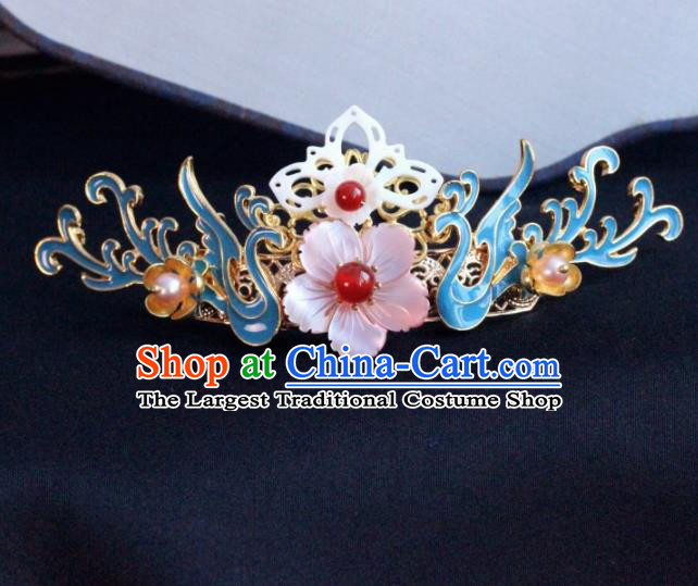 Chinese Ancient Palace Shell Flowers Hairpins Traditional Hair Accessories Headdress for Women