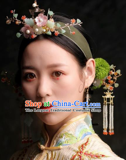 Chinese Ancient Bride Hair Clasp Hairpins Traditional Hair Accessories Headdress for Women