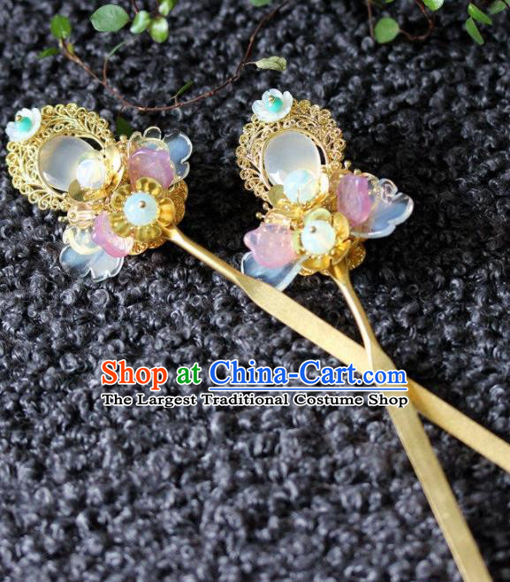 Handmade Chinese Ancient Princess Hair Clips Hairpins Traditional Hair Accessories Headdress for Women