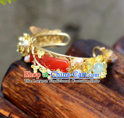 Top Grade Chinese Handmade Agate Bracelet Traditional Bride Jewelry Accessories for Women