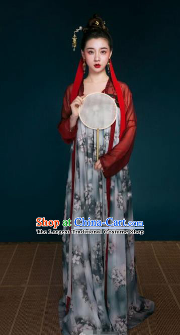 Chinese Traditional Tang Dynasty Palace Lady Historical Costume Ancient Peri Hanfu Dress for Women