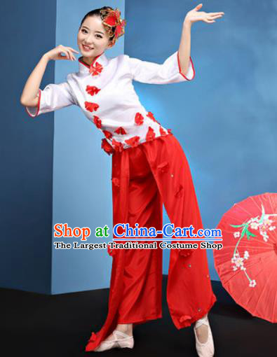Traditional Chinese Folk Dance Stage Show Clothing Group Fan Dance Yangko Costume for Women