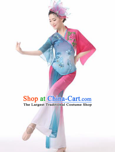 Traditional Chinese Folk Dance Clothing Yangko Dance Costume for Women