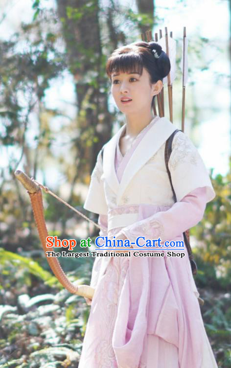 The Story Of MingLan Chinese Ancient Female Swordsman Embroidered Historical Costume for Women