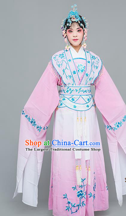 Chinese Traditional Peking Opera Princess Pink Dress Classical Beijing Opera Actress Costume for Adults