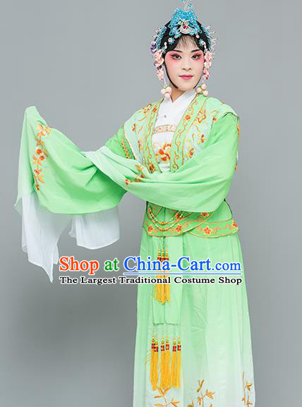 Chinese Traditional Peking Opera Princess Green Dress Classical Beijing Opera Actress Costume for Adults