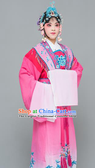 Chinese Traditional Peking Opera Princess Rosy Dress Classical Beijing Opera Actress Costume for Adults
