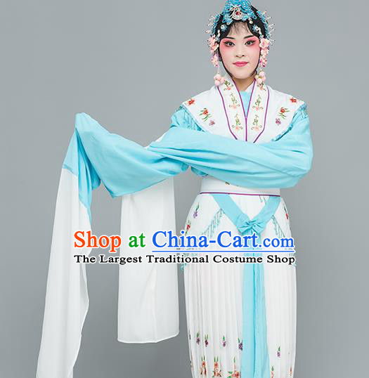 Chinese Traditional Peking Opera Peri White Dress Classical Beijing Opera Actress Costume for Adults