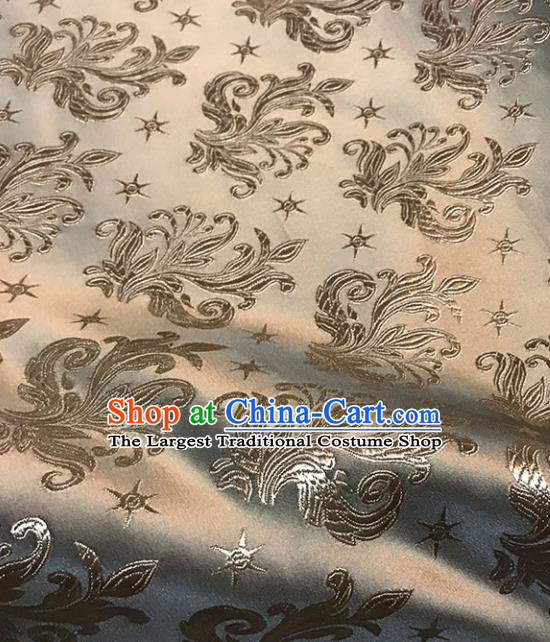 Asian Chinese Royal Pattern Light Tan Brocade Fabric Traditional Silk Fabric Tang Suit Material