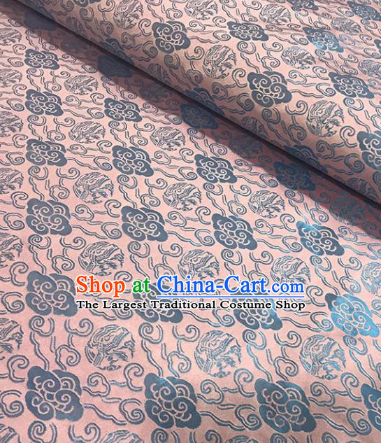 Asian Chinese Royal Clouds Pattern Pink Brocade Fabric Traditional Silk Fabric Tang Suit Material