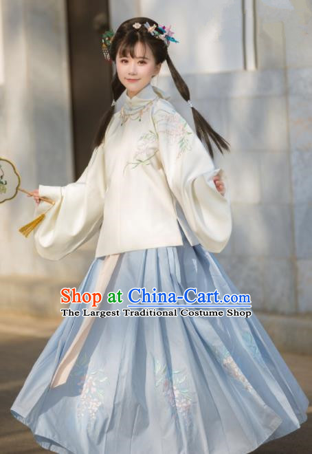 Chinese Traditional Ming Dynasty Princess Hanfu Dress Ancient Drama Peri Costume for Women