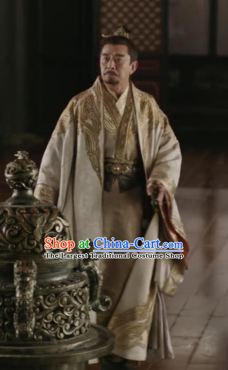 The Story Of MingLan Chinese Ancient Song Dynasty Royal Highness Embroidered Historical Costume for Men