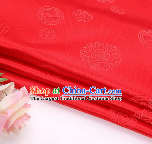 Asian Chinese Traditional Round Pattern Brocade Fabric Tang Suit Silk Fabric Material