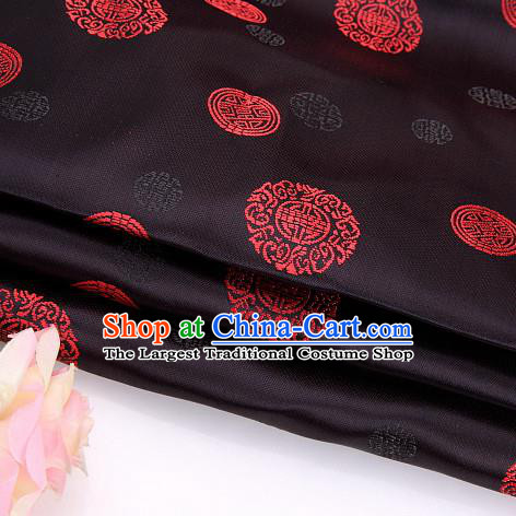 Asian Chinese Traditional Round Pattern Brocade Fabric Tang Suit Silk Material