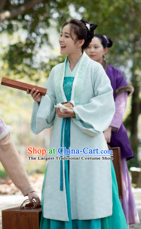 The Story Of MingLan Chinese Song Dynasty Historical Costume Ancient Nobility Lady Hanfu Dress for Women