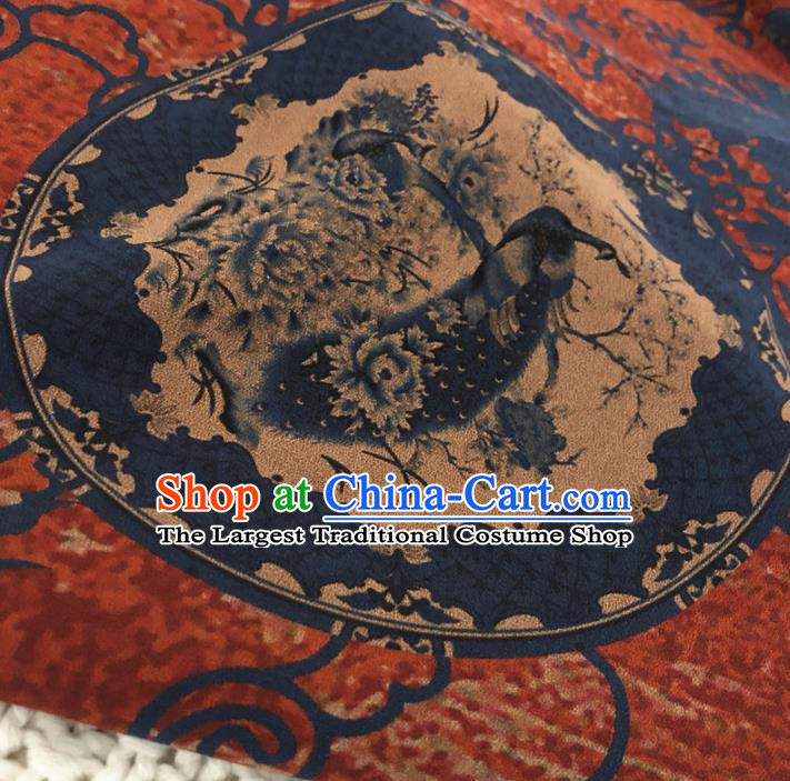 Asian Chinese Classical Design Pattern Watered Gauze Brocade Traditional Cheongsam Satin Fabric Tang Suit Silk Material