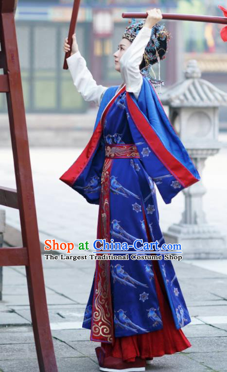 The Story Of MingLan Chinese Ancient Drama Song Dynasty Imperial Madame Embroidered Costume and Headpiece for Women
