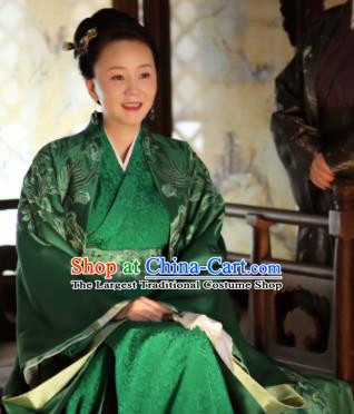 Chinese Drama The Story Of MingLan Ancient Nobility Dowager Embroidered Historical Costume for Women