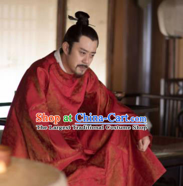 The Story Of MingLan Chinese Ancient Song Dynasty Civil Official Embroidered Robe for Men