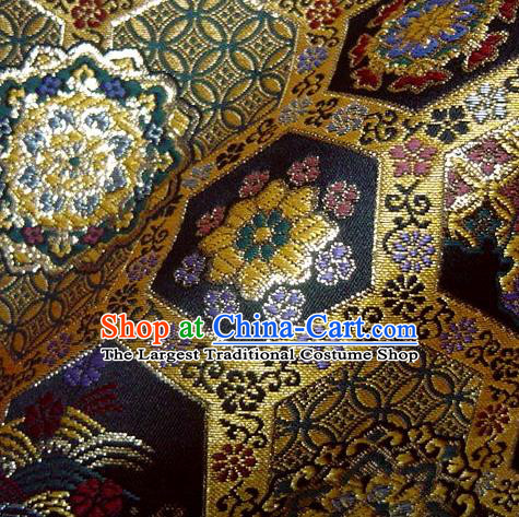 Asian Traditional Kyoto Kimono Classical ShuJiang Pattern Damask Brocade Fabric Japanese Tapestry Satin Silk Material
