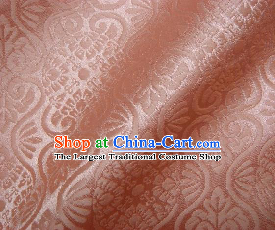 Asian Traditional Kyoto Kimono Brocade Classical Pattern Pink Damask Fabric Japanese Tapestry Satin Silk Material