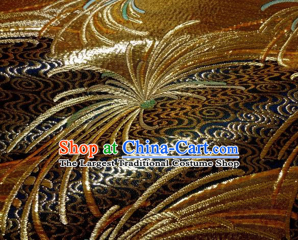 Asian Traditional Classical Spiraea Hypericifolia Pattern Damask Brocade Fabric Japanese Kimono Tapestry Satin Silk Material