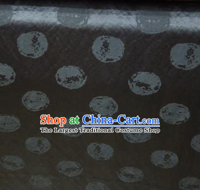 Asian Traditional Fabric Classical Pattern Black Watered Gauze Brocade Satin Silk Material