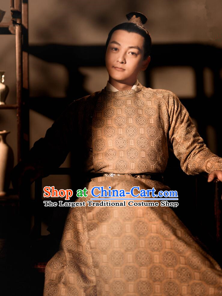 Drama The Story Of MingLan Chinese Ancient Song Dynasty Nobility Childe Embroidered Costume for Men