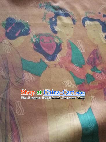 Asian Traditional Fabric Classical Pattern Watered Gauze Brocade Chinese Satin Silk Material