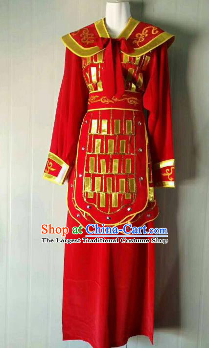 Chinese Traditional Beijing Opera Swordswoman Red Dress Peking Opera Blues Costume for Women
