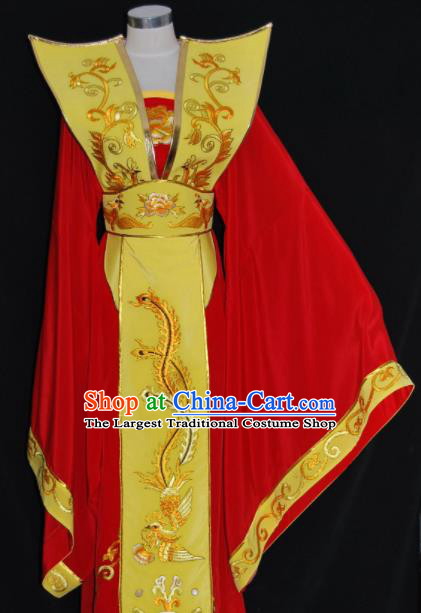 Chinese Traditional Beijing Opera Queen Mother Red Dress Peking Opera Embroidered Costume for Women