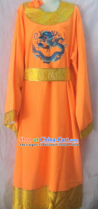 Chinese Traditional Beijing Opera Eunuch Yellow Robe Peking Opera Costume for Men